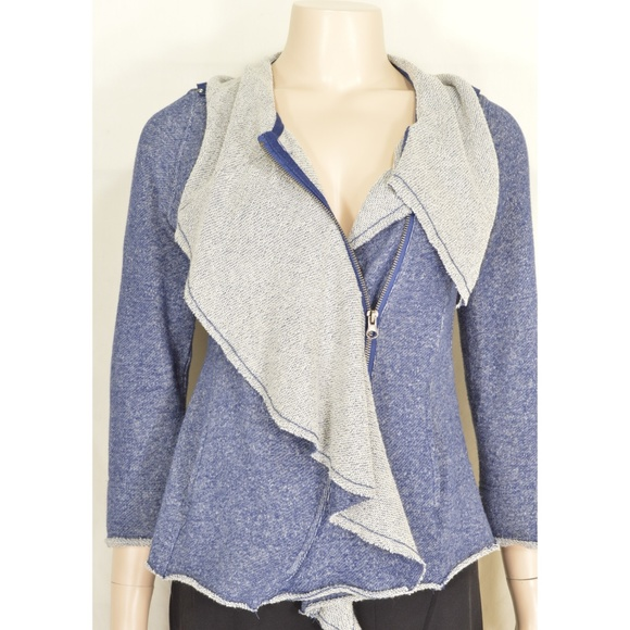 Sugarfly Other - Sugarfly jacket sz L blue gray moto style zipper 1